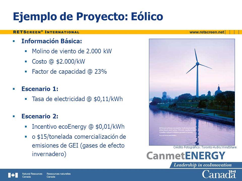 Ejemplo de Proyecto: Eólico