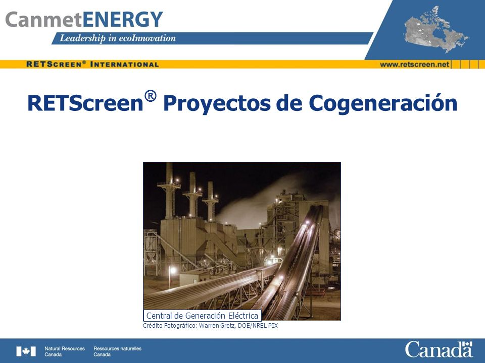 RETScreen® Proyectos de Cogeneración