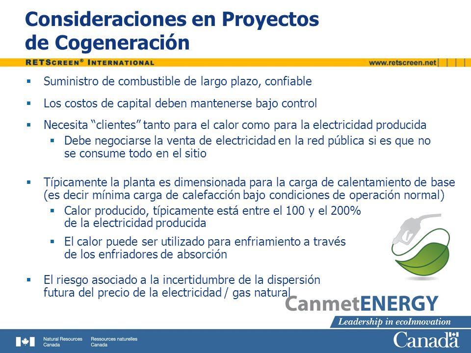 Consideraciones en Proyectos de Cogeneración