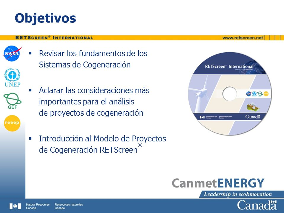 Objetivos Revisar los fundamentos de los Sistemas de Cogeneración