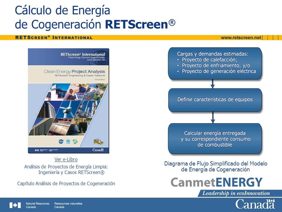 Cálculo de Energía de Cogeneración RETScreen®