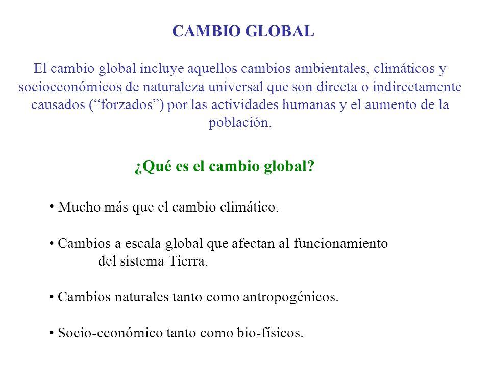 ¿Qué es el cambio global
