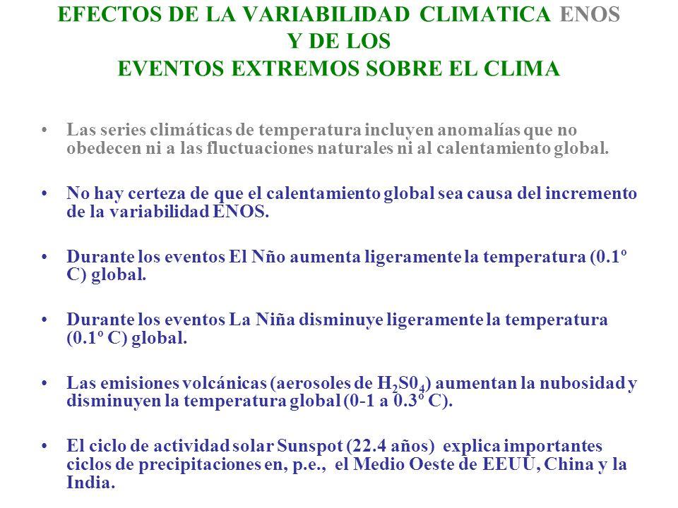 EFECTOS DE LA VARIABILIDAD CLIMATICA ENOS Y DE LOS EVENTOS EXTREMOS SOBRE EL CLIMA