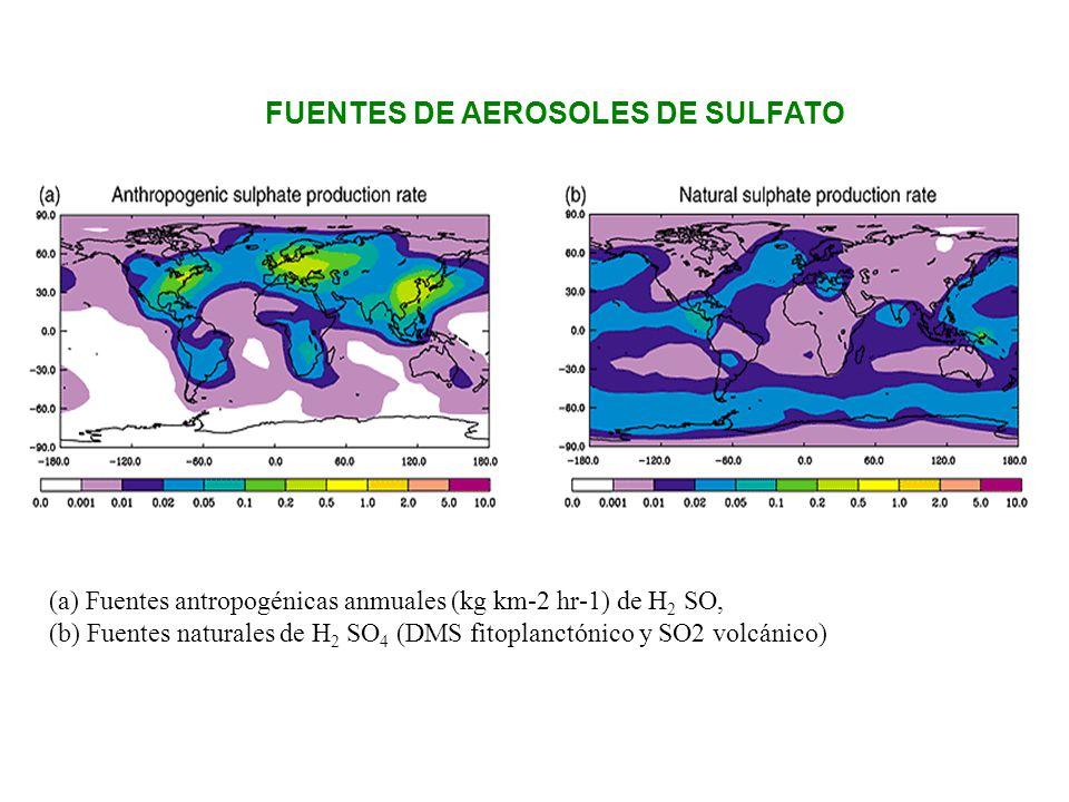 FUENTES DE AEROSOLES DE SULFATO