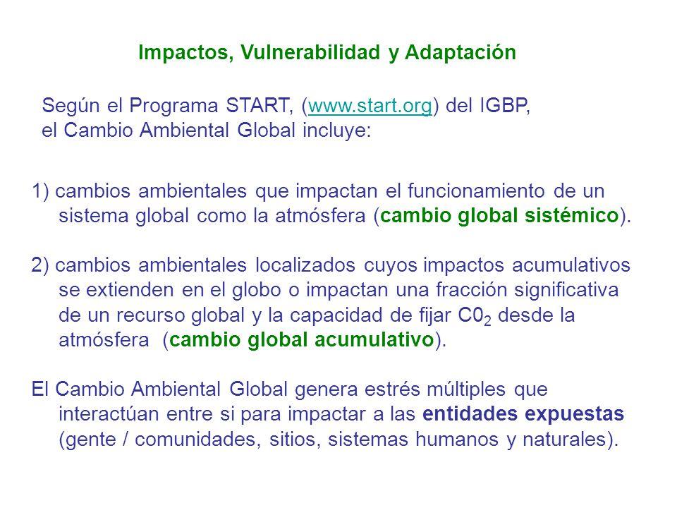 Impactos, Vulnerabilidad y Adaptación