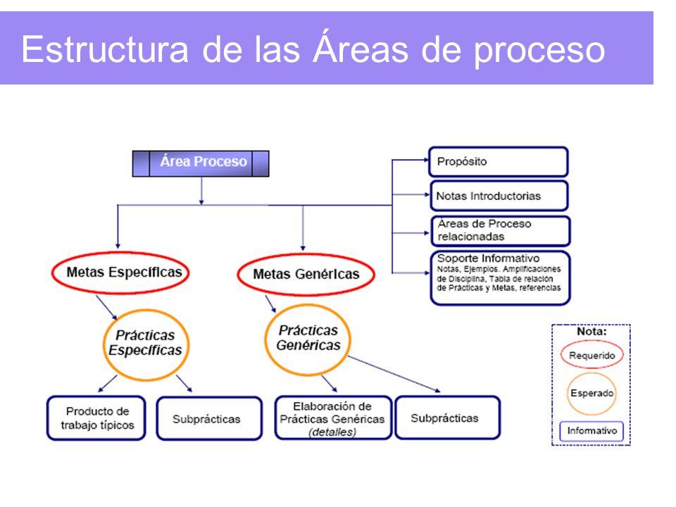 Estructura de las Áreas de proceso