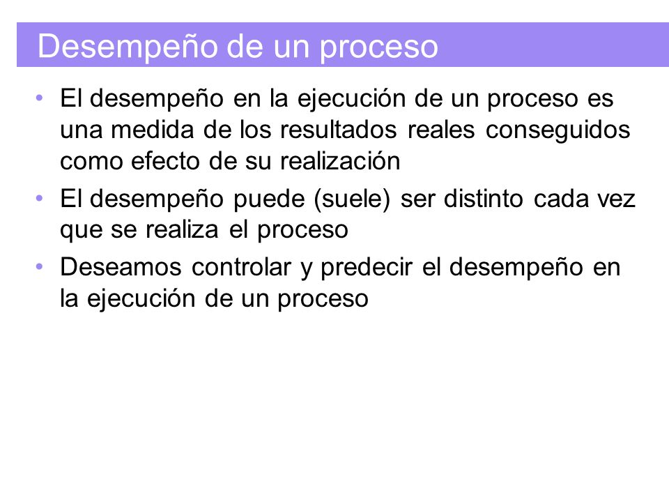 Desempeño de un proceso