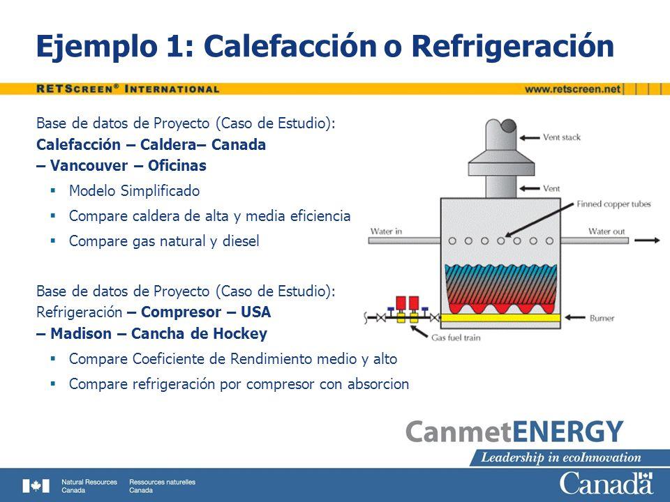 Ejemplo 1: Calefacción o Refrigeración