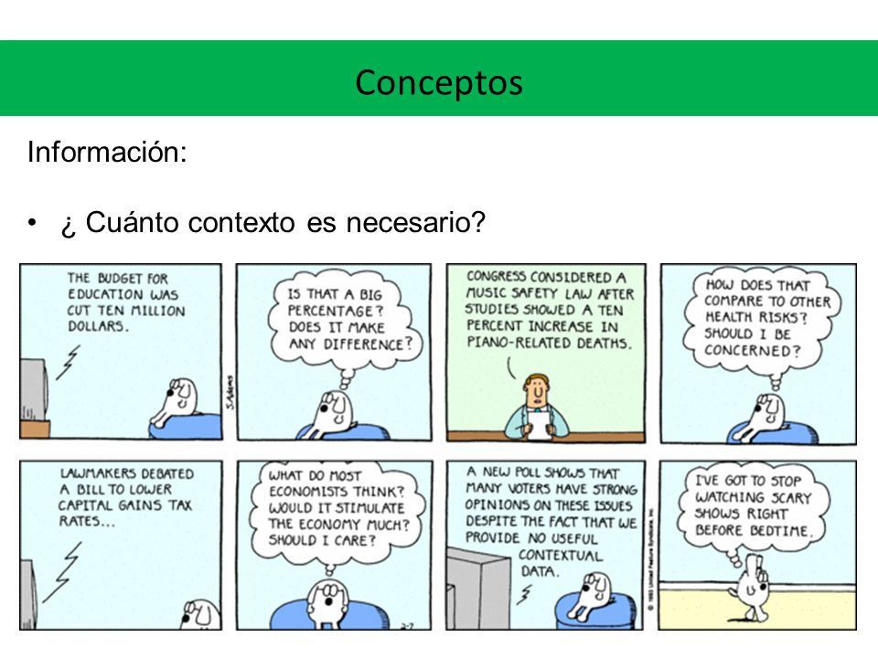 Conceptos Información: ¿ Cuánto contexto es necesario