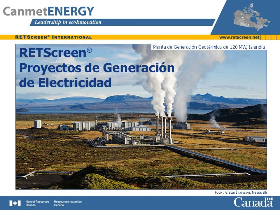 RETScreen® Proyectos de Generación de Electricidad