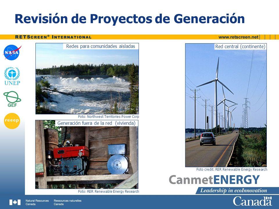 Revisión de Proyectos de Generación