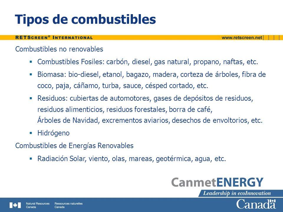 Tipos de combustibles Combustibles no renovables