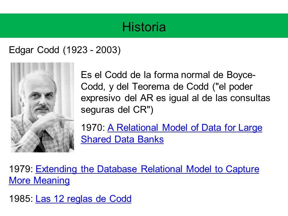 Historia Edgar Codd (1923 - 2003)