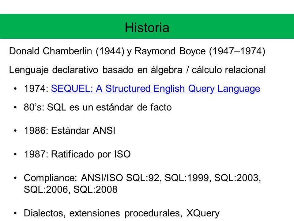 Historia Donald Chamberlin (1944) y Raymond Boyce (1947–1974)