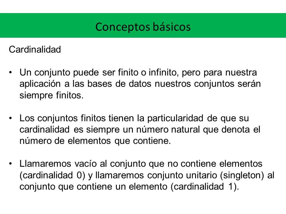 Conceptos básicos Cardinalidad