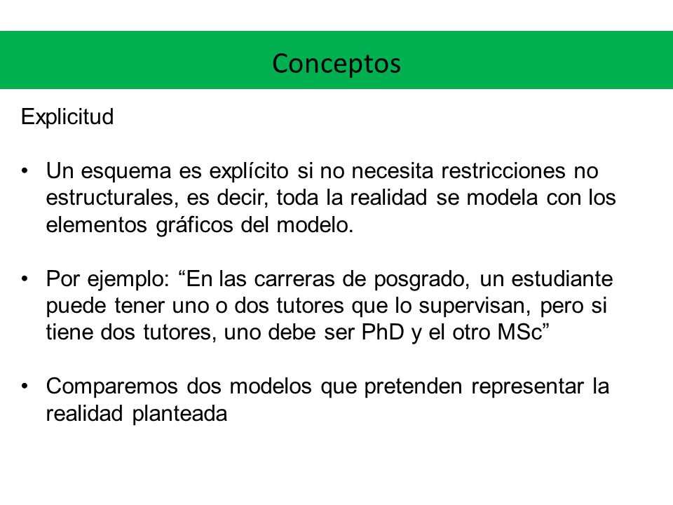 Conceptos Explicitud.
