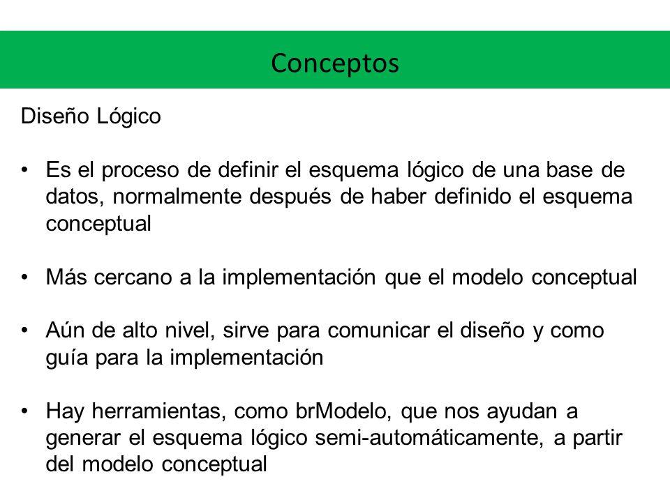 Conceptos Diseño Lógico