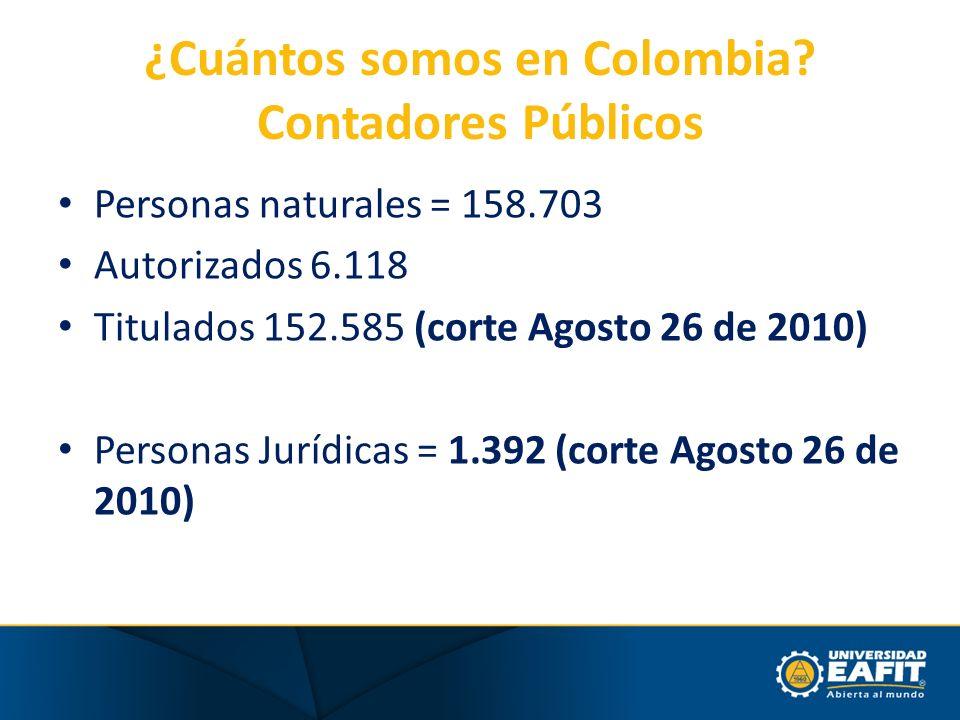 ¿Cuántos somos en Colombia Contadores Públicos