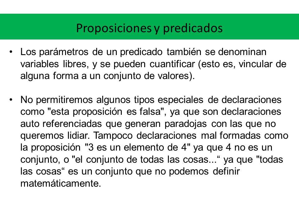 Proposiciones y predicados