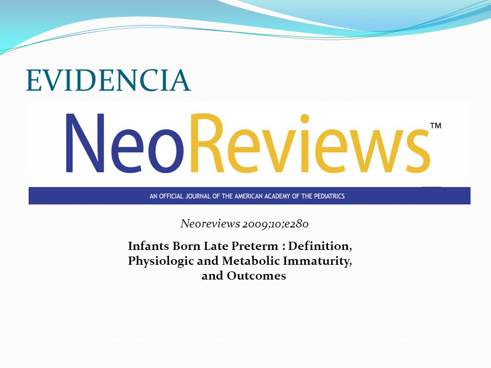 EVIDENCIA Neoreviews 2009;10;e280