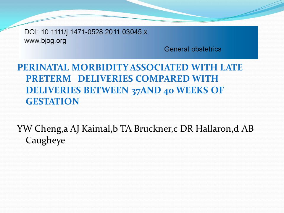 DOI: 10.1111/j.1471-0528.2011.03045.x www.bjog.org. General obstetrics.