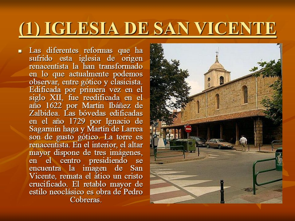 (1) IGLESIA DE SAN VICENTE