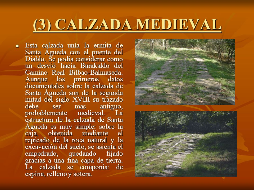 (3) CALZADA MEDIEVAL