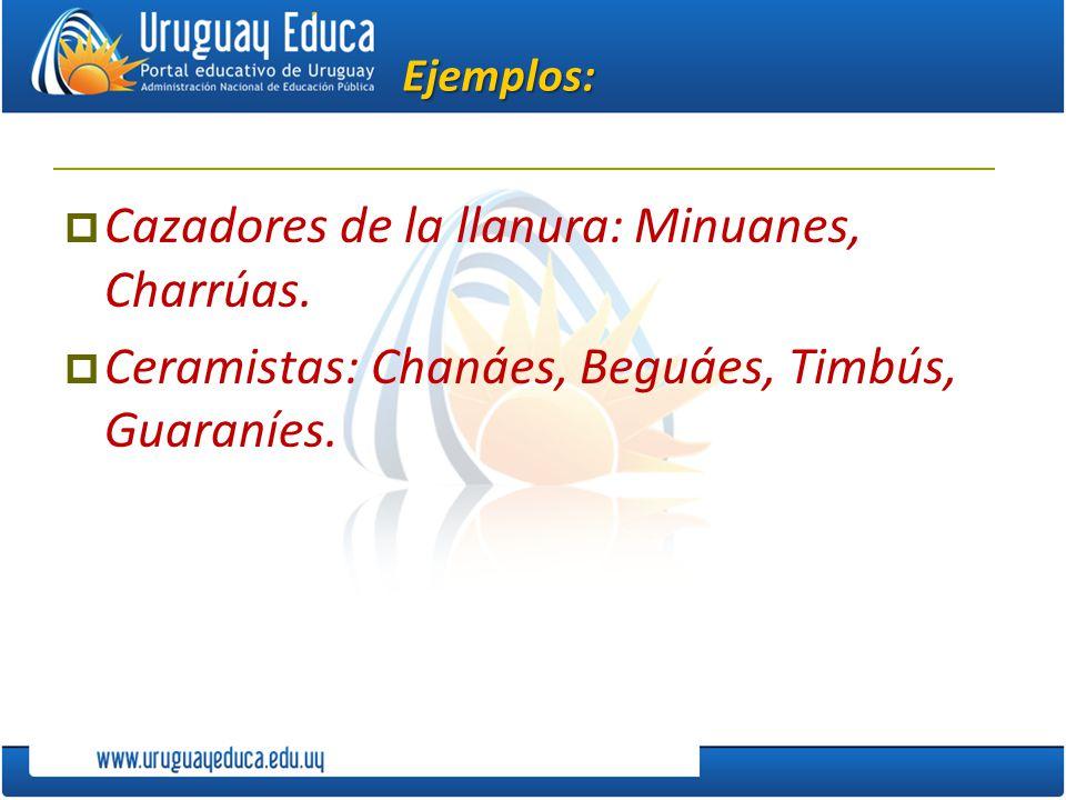 Cazadores de la llanura: Minuanes, Charrúas.