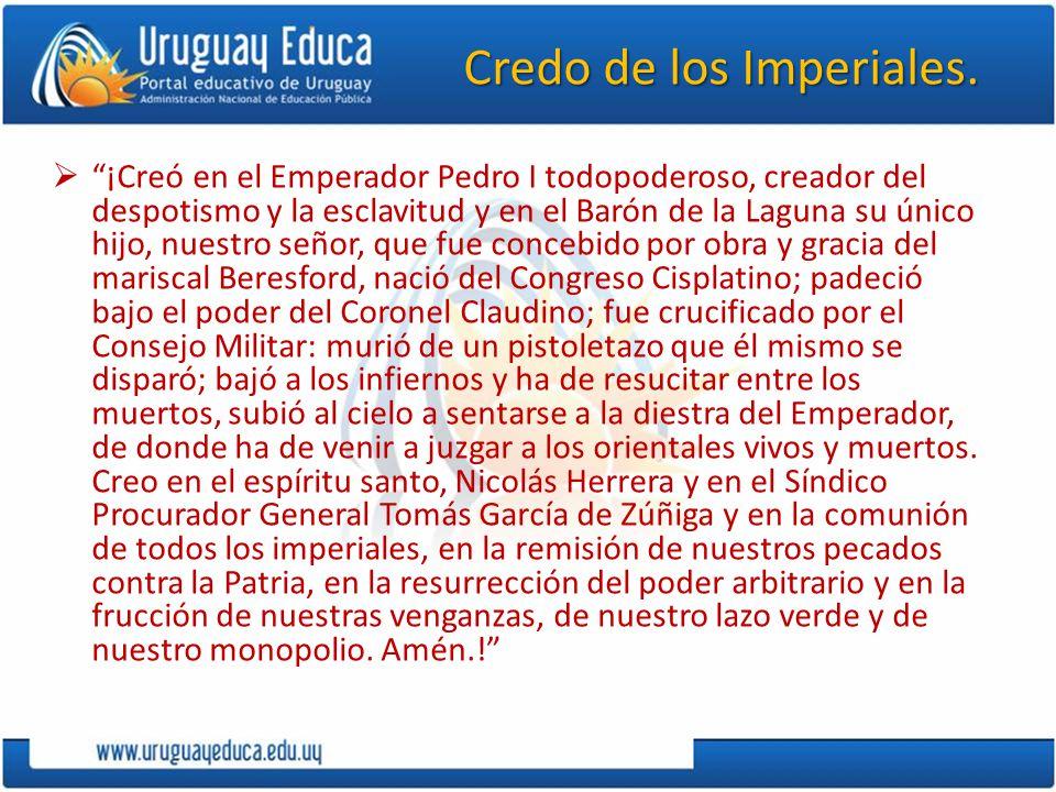 Credo de los Imperiales.