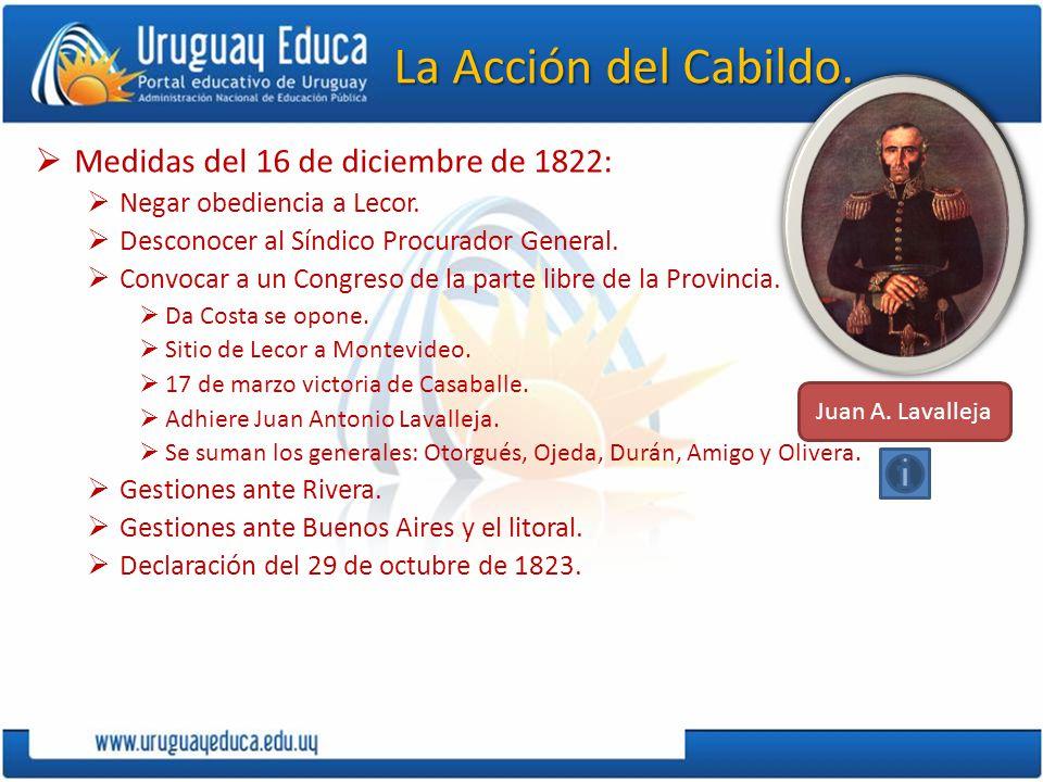 La Acción del Cabildo. Medidas del 16 de diciembre de 1822: