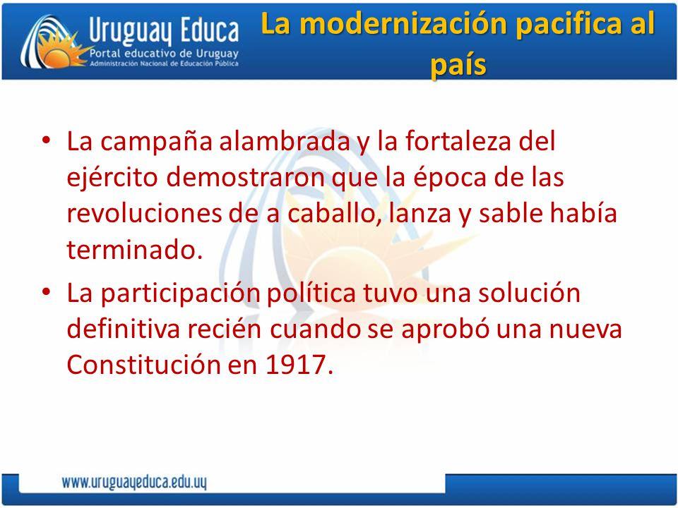La modernización pacifica al país