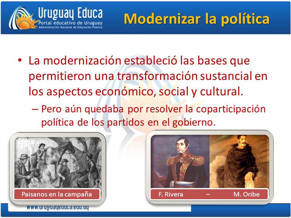 Modernizar la política