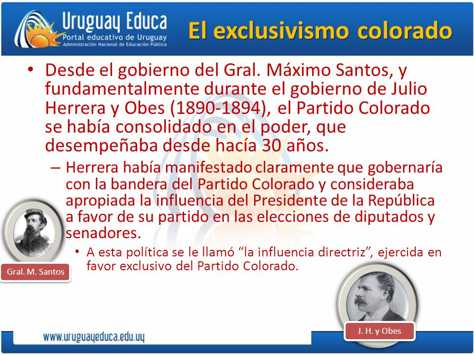 El exclusivismo colorado
