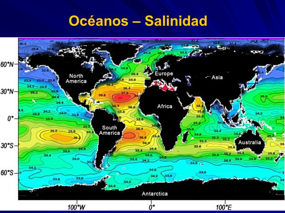 Océanos – Salinidad