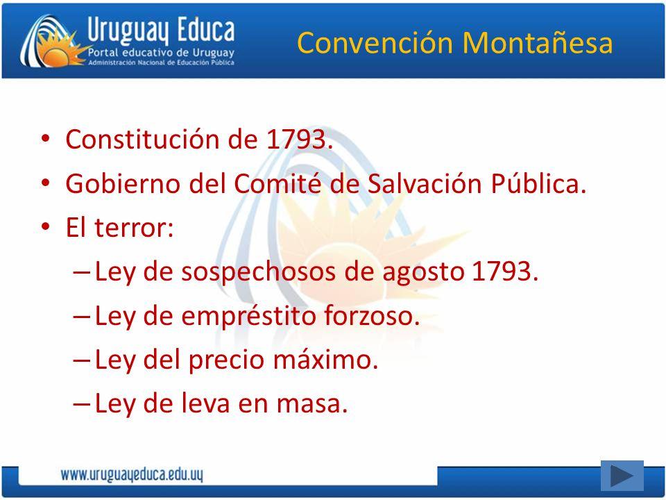 Convención Montañesa Constitución de 1793.