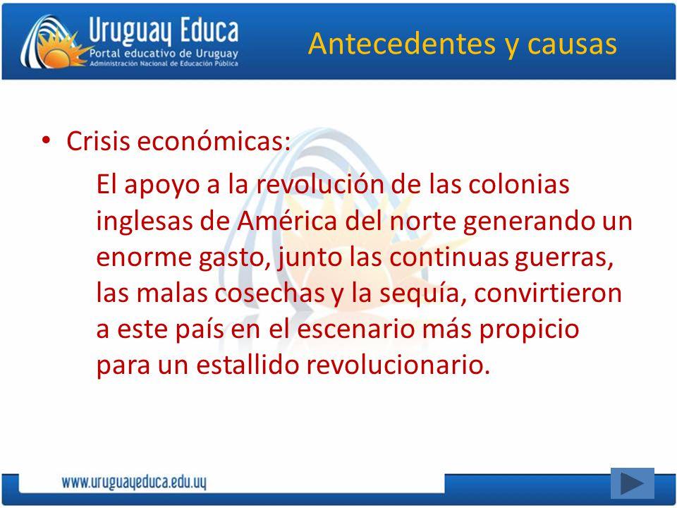 Antecedentes y causas Crisis económicas: