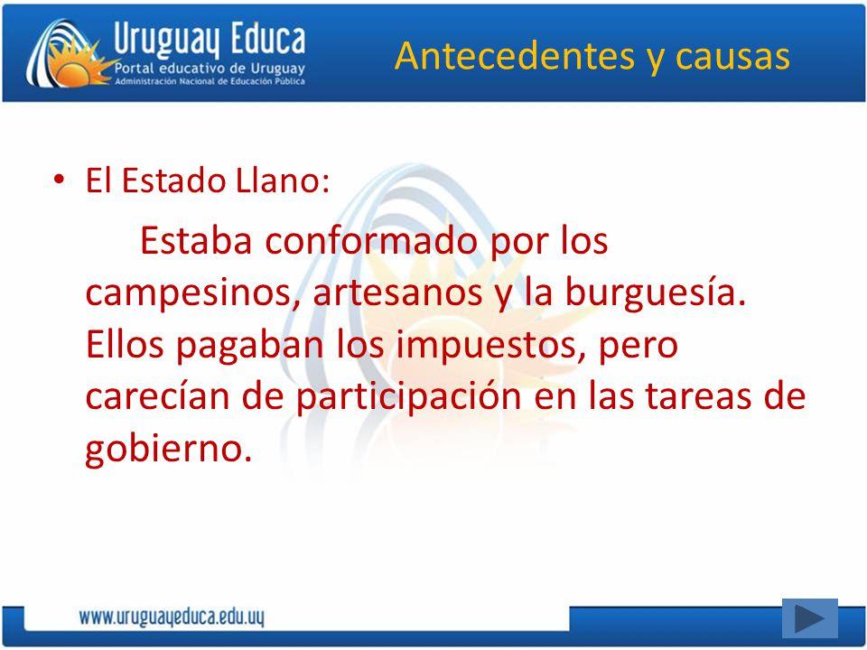 Antecedentes y causas El Estado Llano: