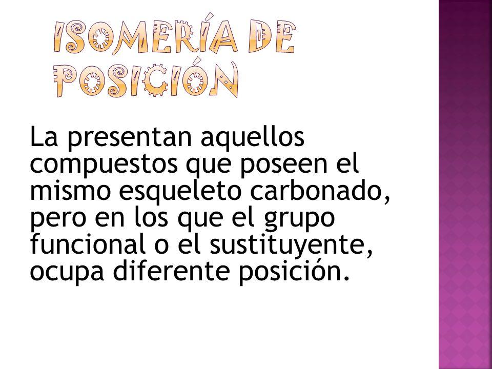 Isomería de posición