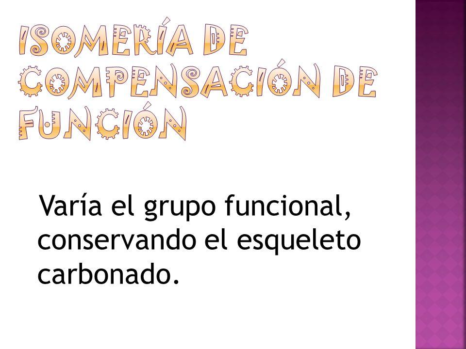 Isomería de compensación de función