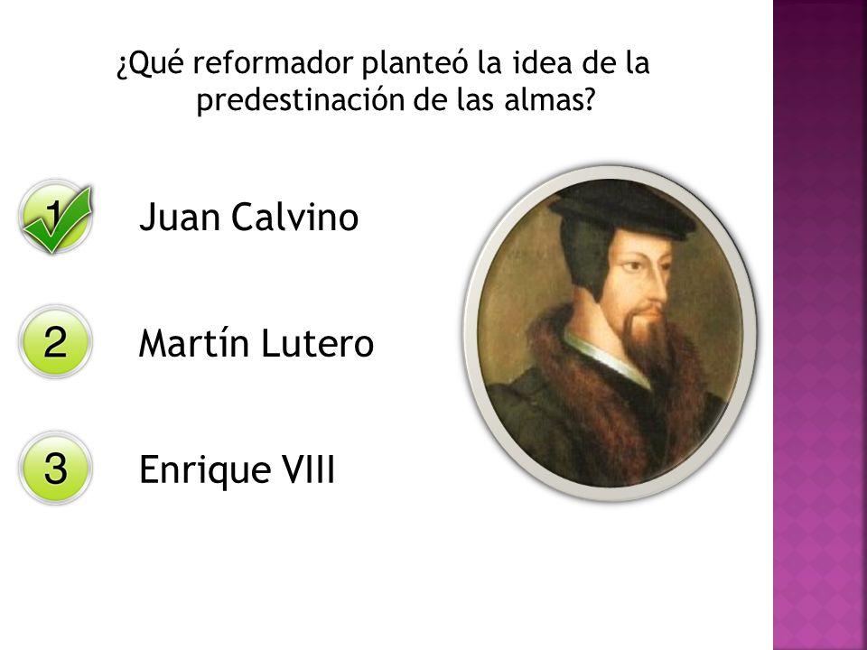 ¿Qué reformador planteó la idea de la predestinación de las almas