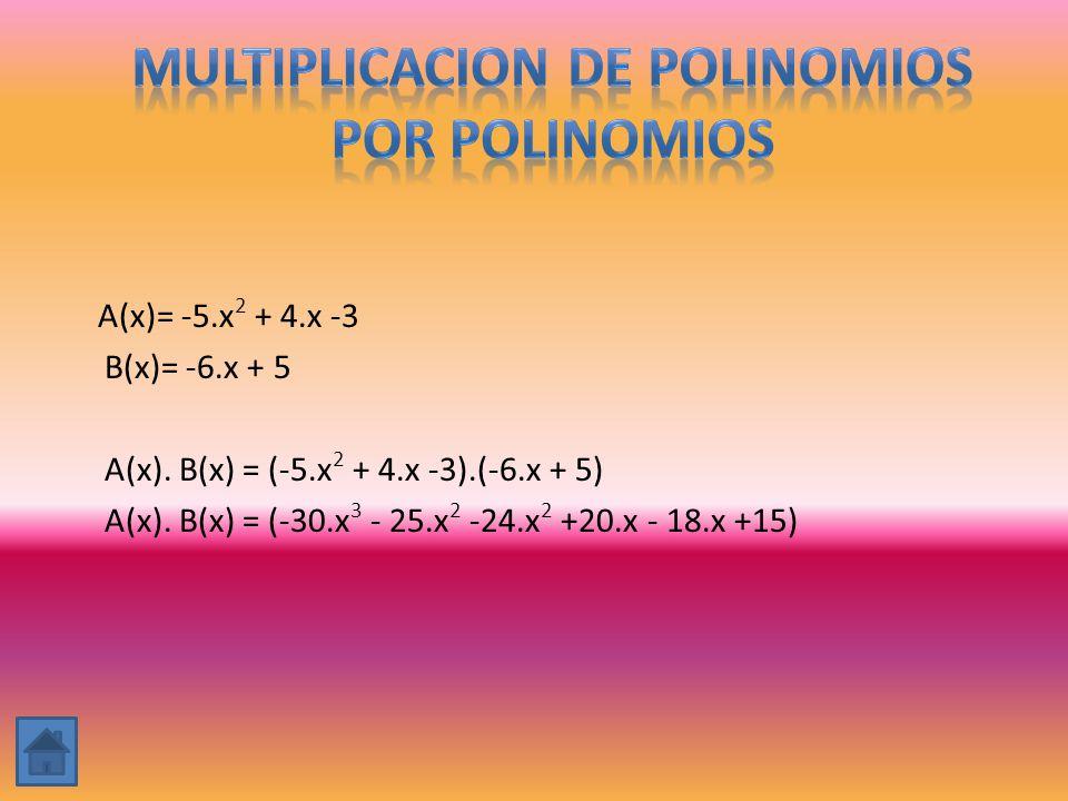 MULTIPLICACION DE Polinomios