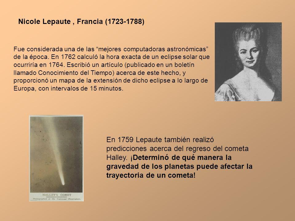 Nicole Lepaute , Francia (1723-1788)