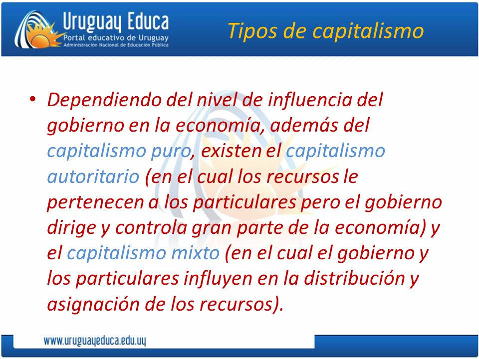 Tipos de capitalismo