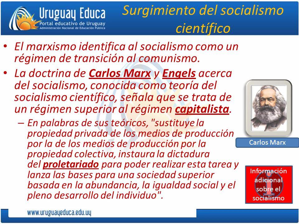 Surgimiento del socialismo científico