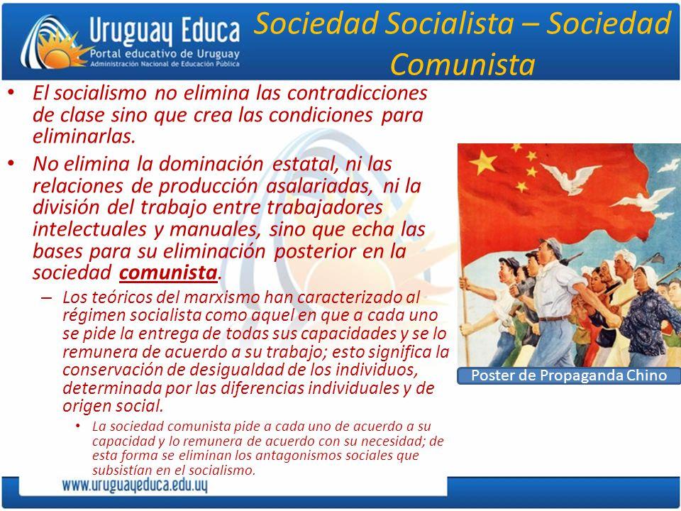 Sociedad Socialista – Sociedad Comunista