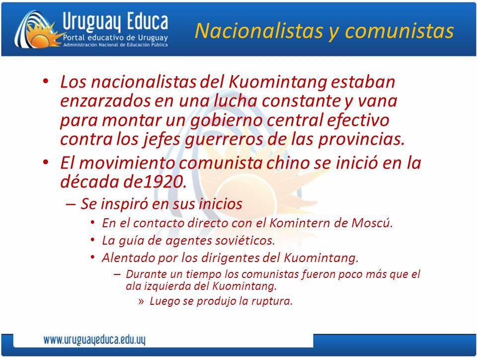 Nacionalistas y comunistas