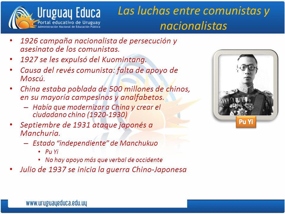 Las luchas entre comunistas y nacionalistas