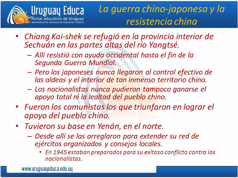 La guerra chino-japonesa y la resistencia china