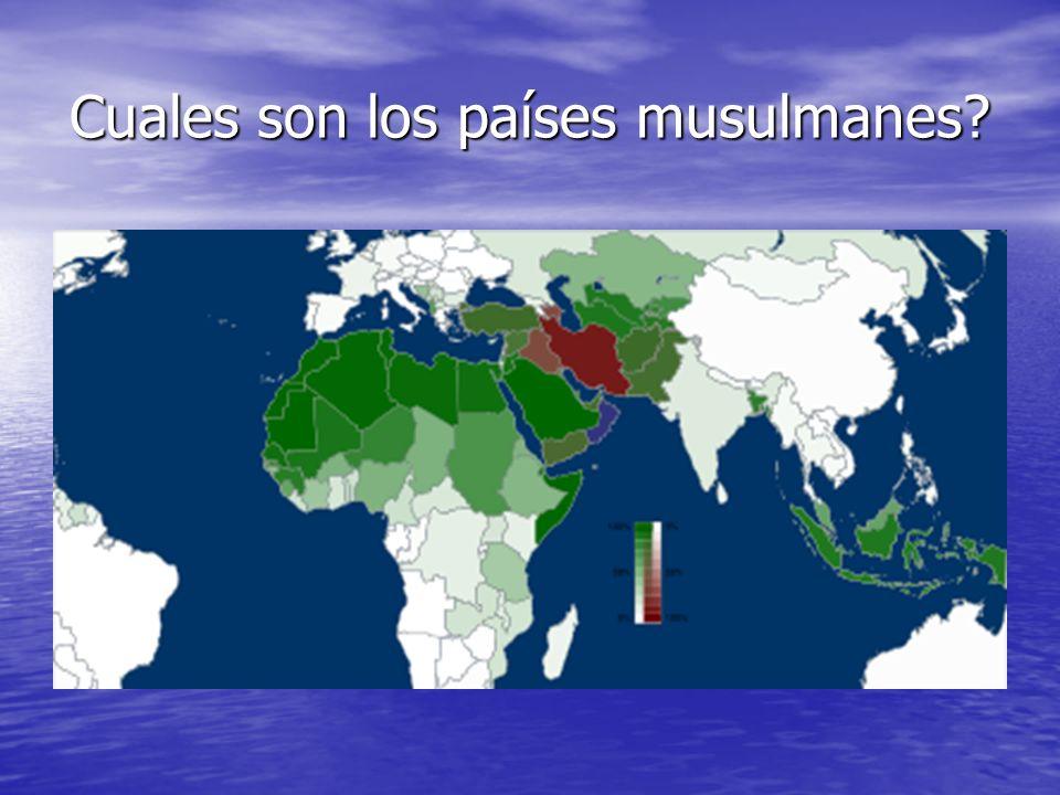 Cuales son los países musulmanes