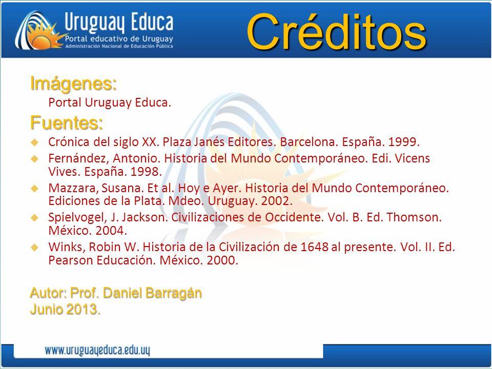 Créditos Imágenes: Fuentes: Portal Uruguay Educa.